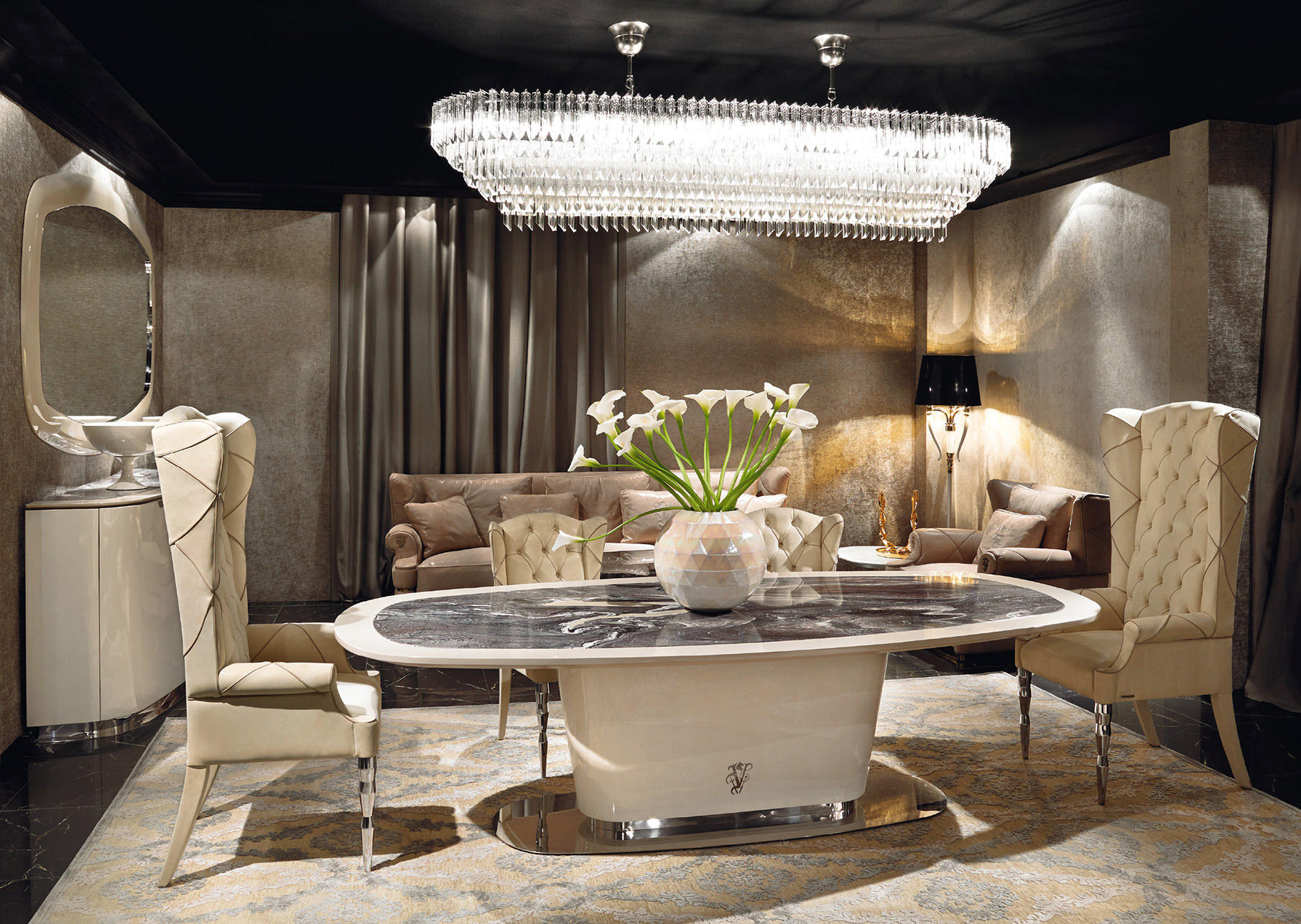 Brunswick Dining Room Visionnaire Home Philosophy #4F6110 1811 1287 Sala Da Pranzo Reggia Di Caserta