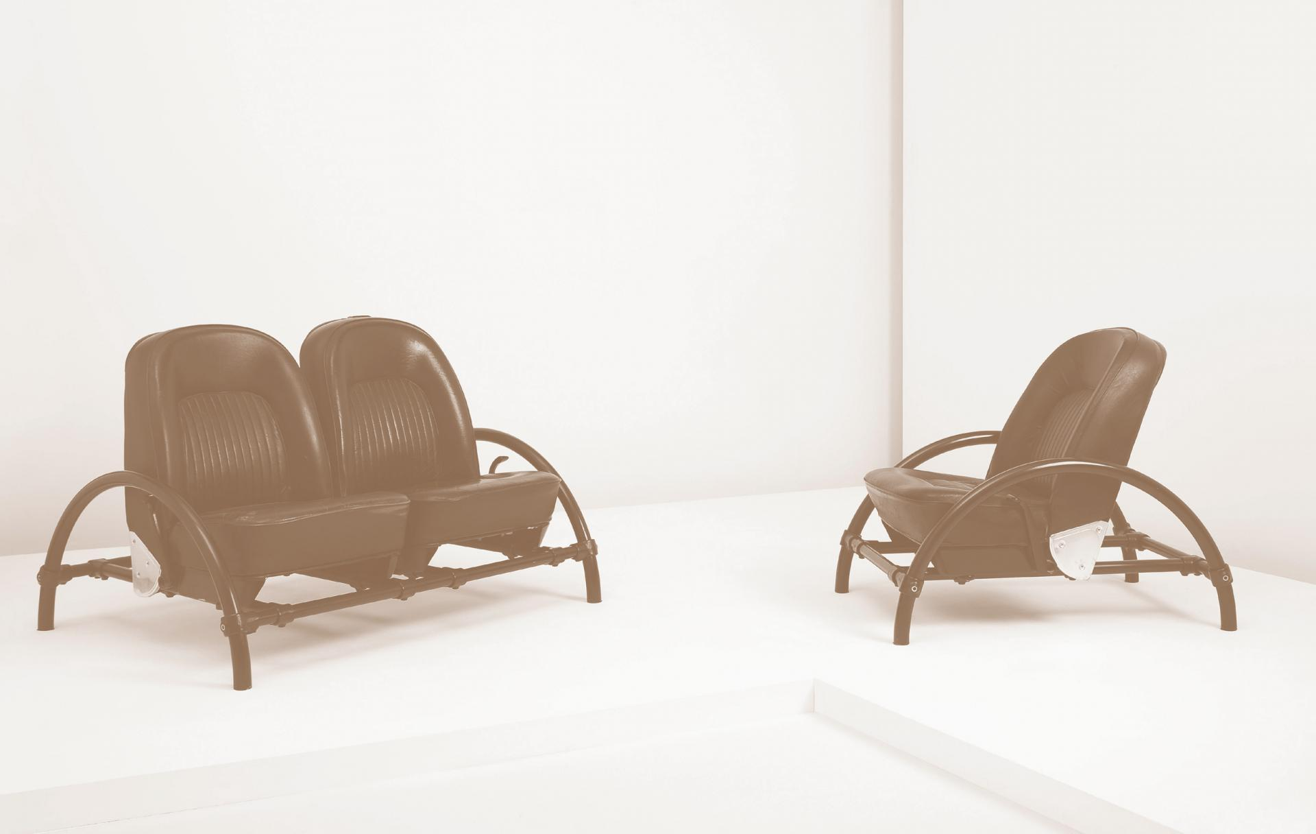 "Ron Arad, ""Rover"" two-seater sofa and ""Rover"" lounge chair"