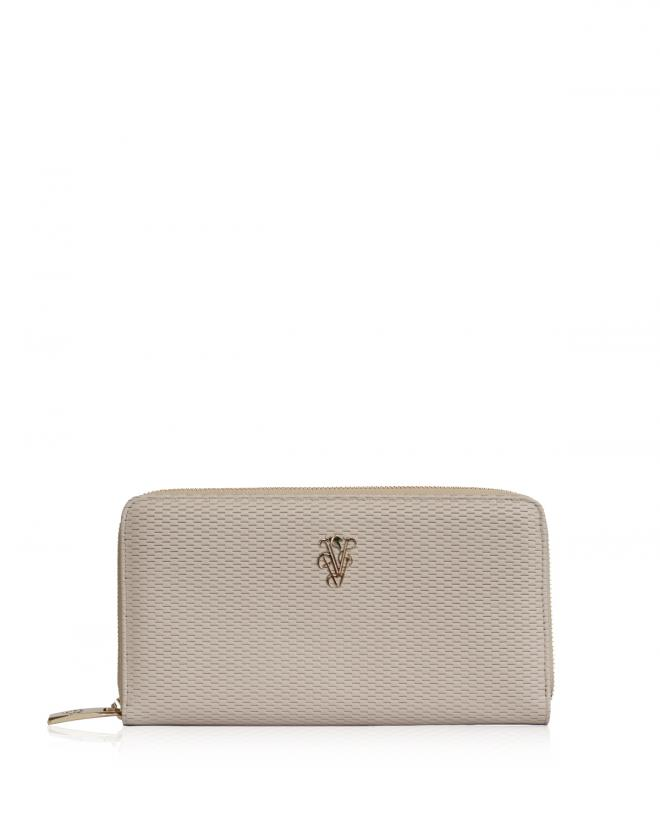 Explorer zip around wallet beige